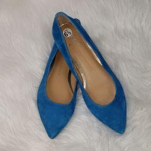 {Banana Republic} Blue Suede Flats